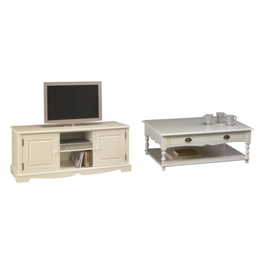 Beste von ensemble meuble tv table basse id es de for Leclerc meuble basse goulaine catalogue