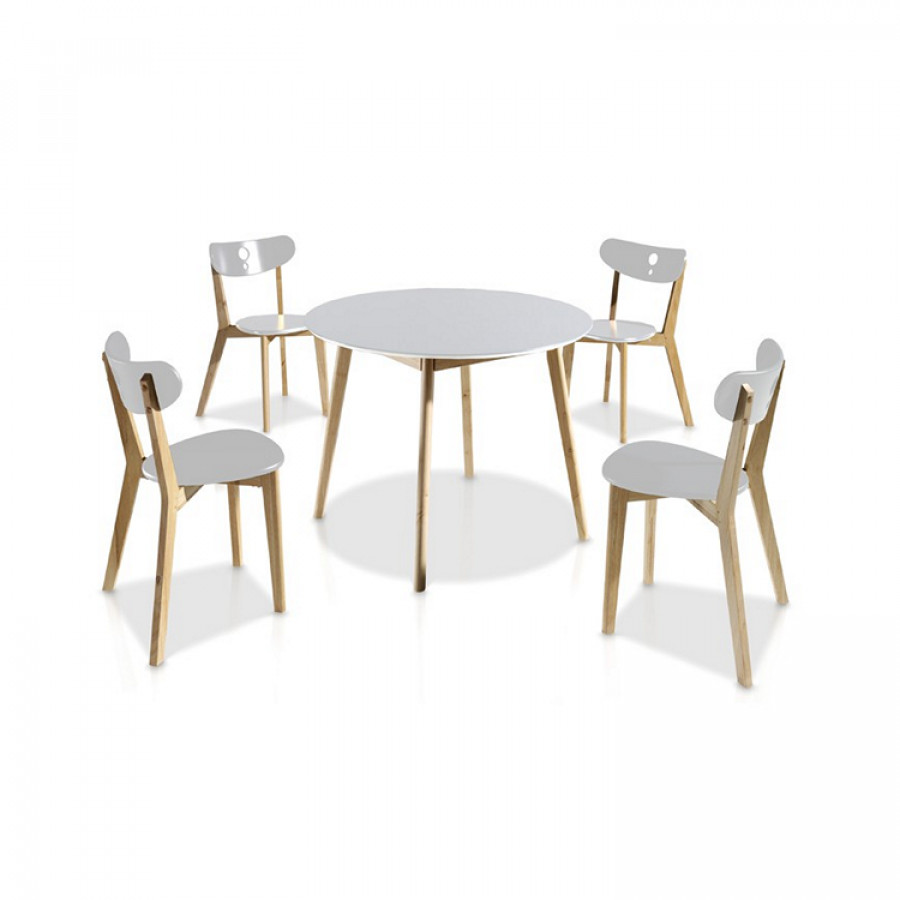 Ensemble table chaises maison design for Ensemble table chaise design
