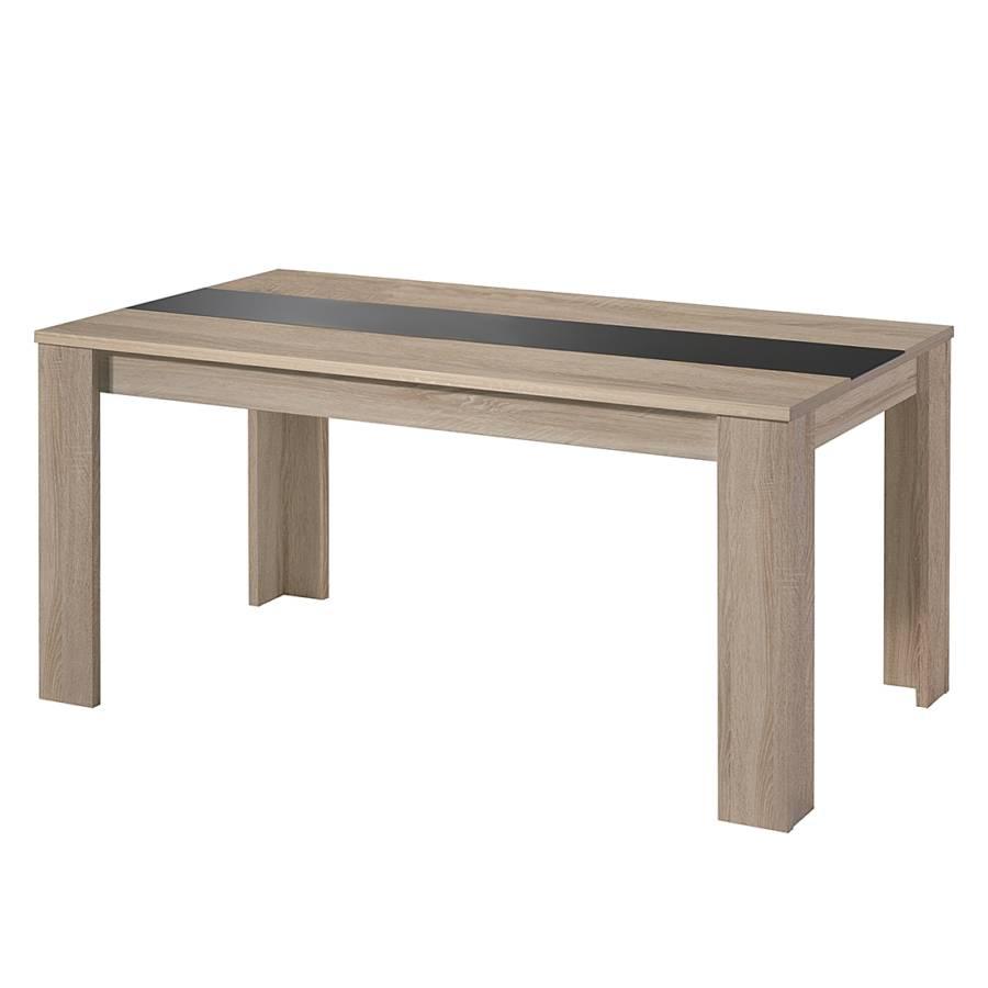 esstisch leaf iv eiche s gerau dekor schwarz home24. Black Bedroom Furniture Sets. Home Design Ideas