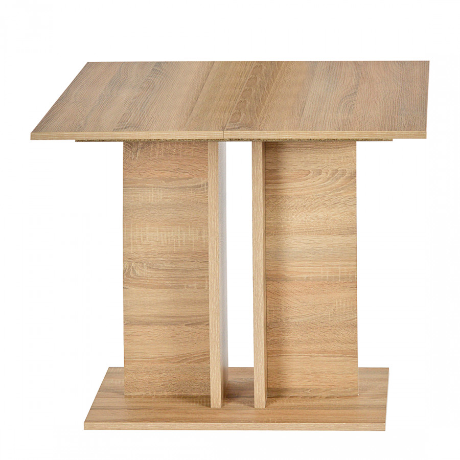 Table manger eike extractible imitation ch ne brut for Table extractible