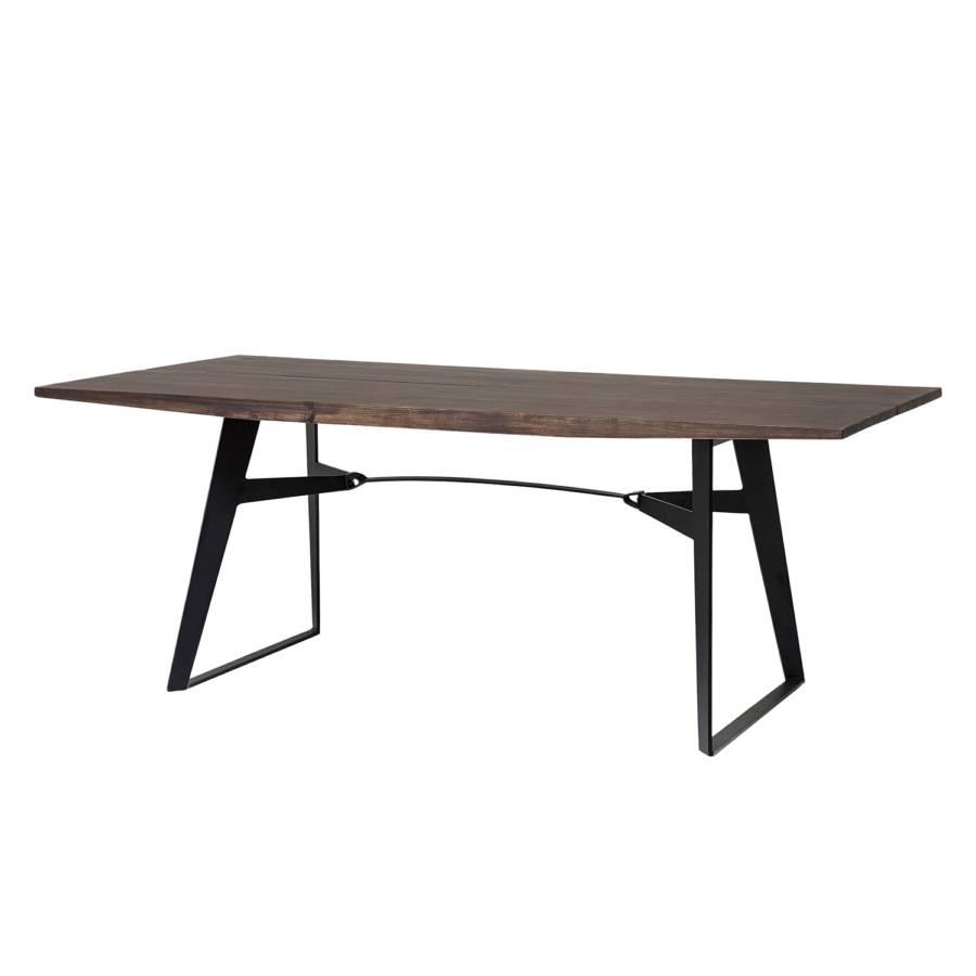Tavolo da pranzo graham legno massello di acacia ferro - Tavolo braccio di ferro ...