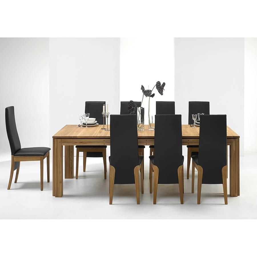 esstisch cinque eiche massiv tischplatte natur ge lt pictures to pin on pinterest. Black Bedroom Furniture Sets. Home Design Ideas