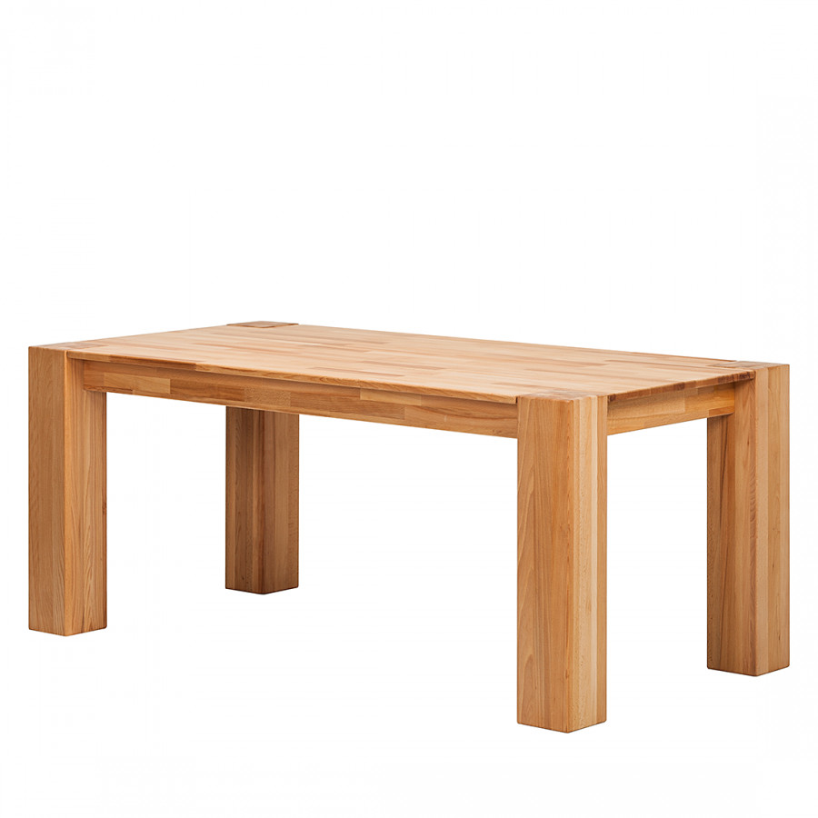 Table manger noahline h tre massif bon prix en ligne for Table salle a manger hetre massif