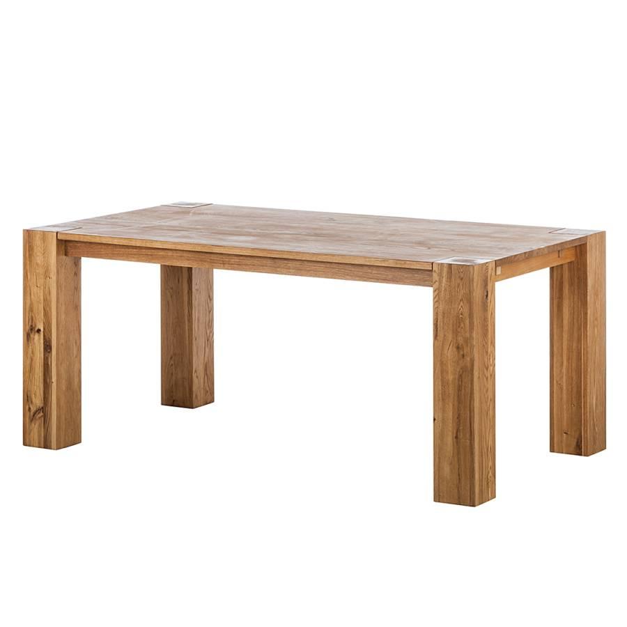 Table de salle manger montana ch ne massif huil - Table chene massif huile ...