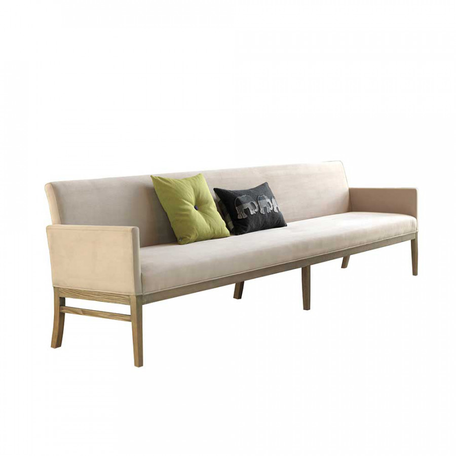 esstischbank pierce microfaser akazie massivholz home24. Black Bedroom Furniture Sets. Home Design Ideas