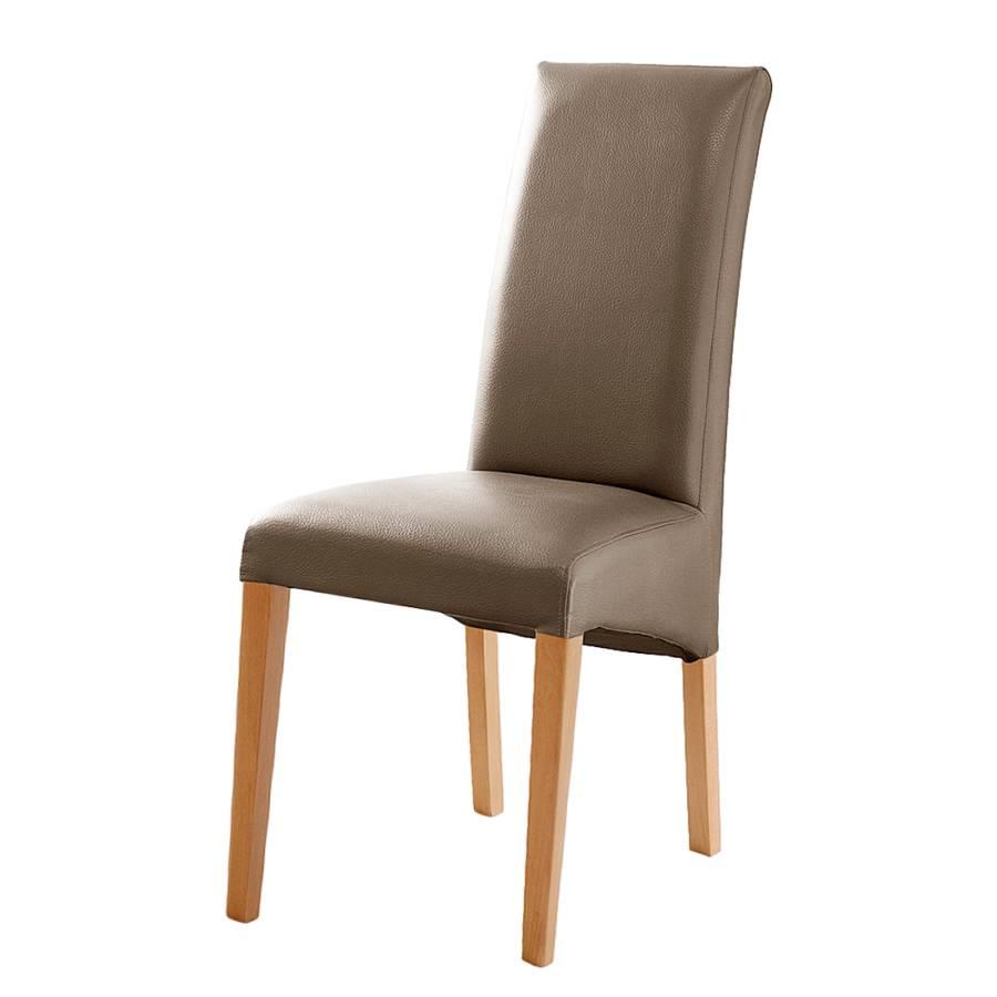 Chaise de salle manger foxa lot de 2 cuir for Chaise cuir salle a manger