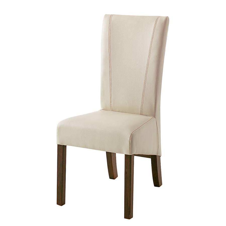Chaise de salle manger karlsborg lot 2 imitation cuir beige h tre mar - Chaise imitation cuir ...