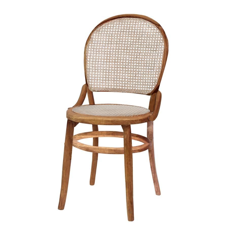 Chaise de salle manger racken orme massif rotin for Chaise salle a manger rotin