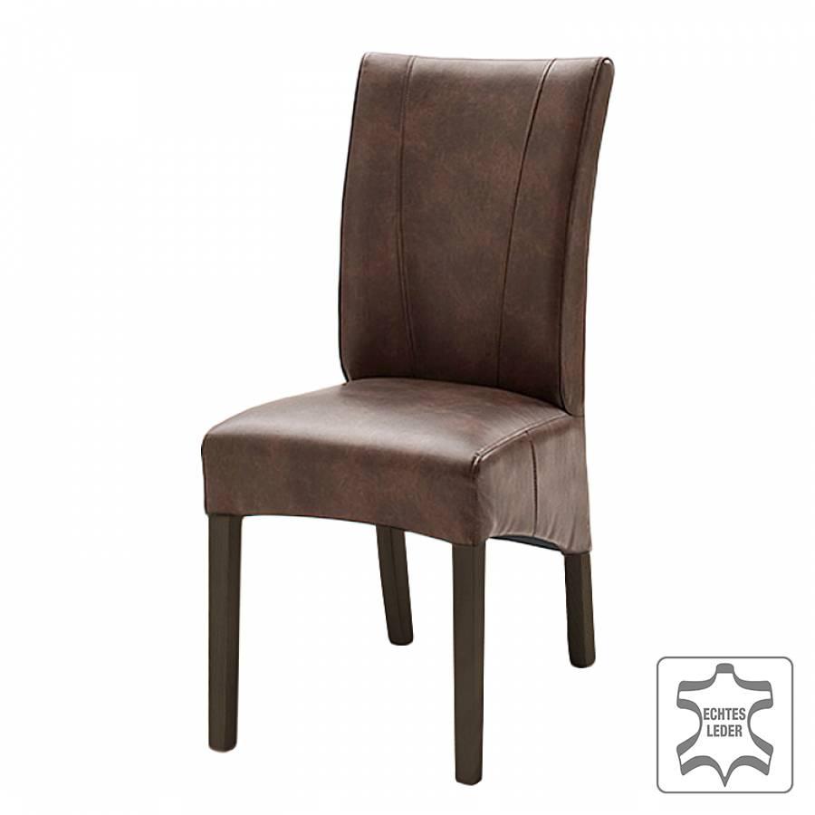 Chaise de salle manger sarpsborg lot de 2 cuir for Chaise de salle a manger en hetre