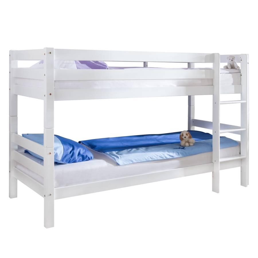 Letto a castello beni legno massello di faggio laccato - Costruire un letto a castello in legno ...