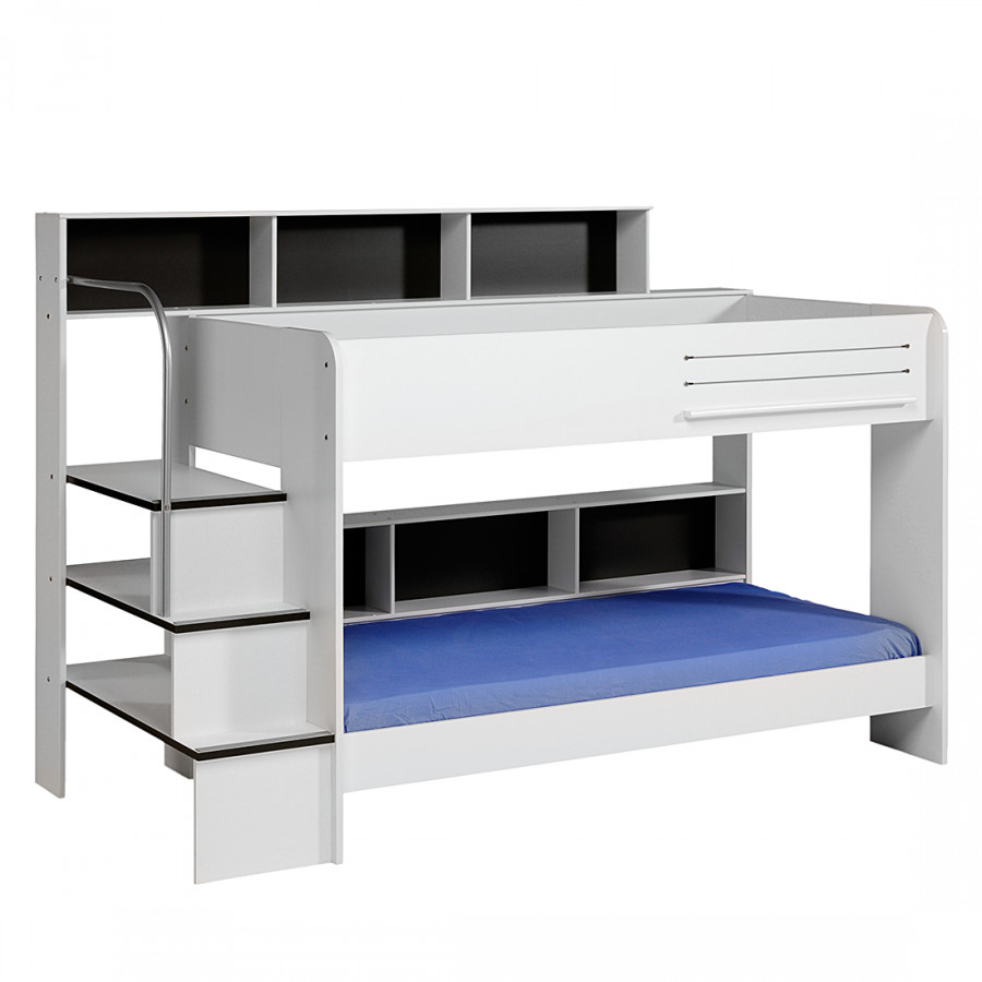 stapelbed bibop draaibare achterwand grijs of wit. Black Bedroom Furniture Sets. Home Design Ideas