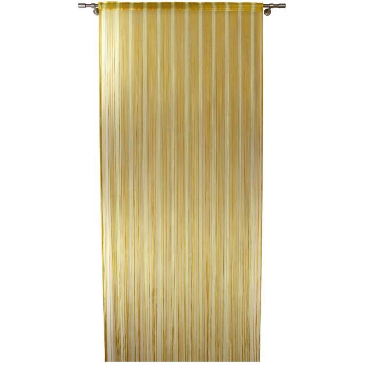 Rideau de fils pour porte for Porte jaune salon