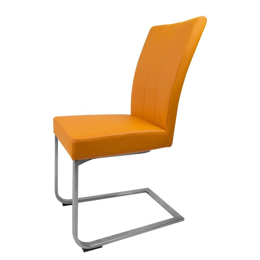 Chaise cantilever leonardo ii imitation cuir - Chaise imitation cuir ...