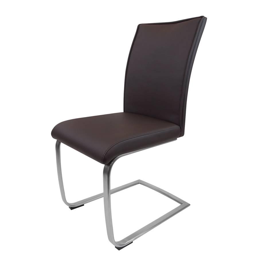 Chaise cantilever valmiena imitation cuir - Chaise imitation cuir ...