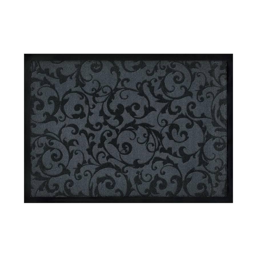fu matte ornamentik grau schwarz home24. Black Bedroom Furniture Sets. Home Design Ideas