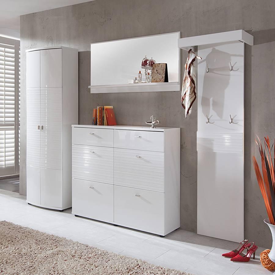 garderobenkombination palmares wei hochglanz kaufen. Black Bedroom Furniture Sets. Home Design Ideas