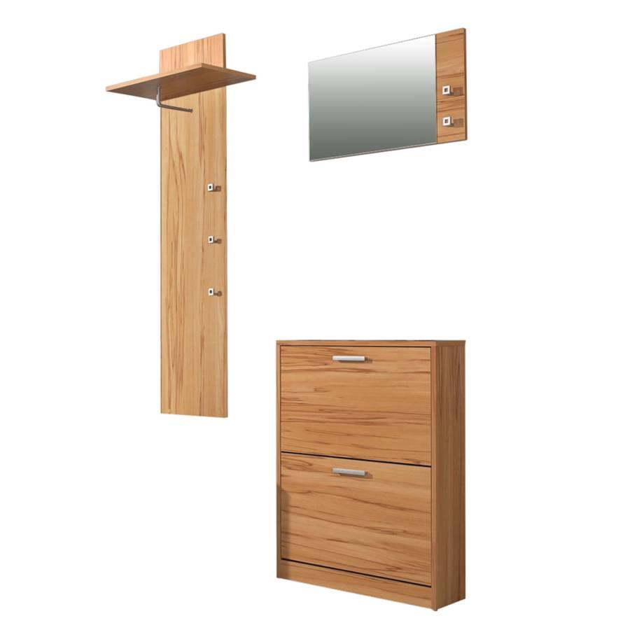 Garderobe torben 3er set kernbuche dekor home24 - Home24 garderobe ...