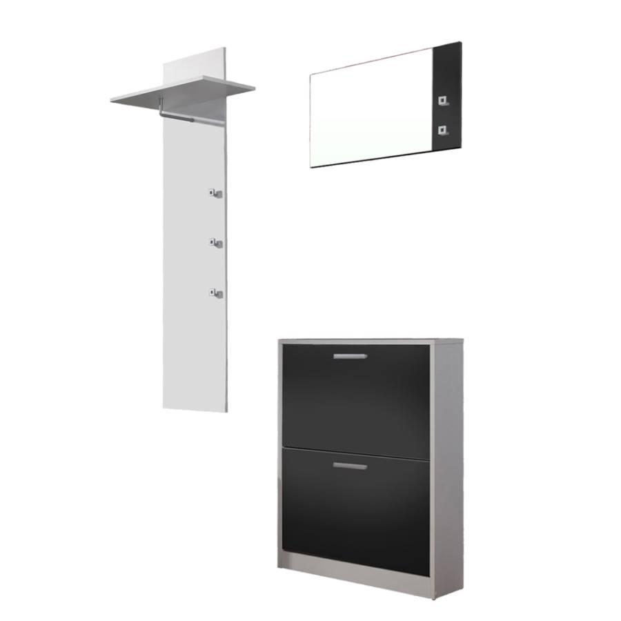 garderobe torben 3er set wei schwarz home24. Black Bedroom Furniture Sets. Home Design Ideas
