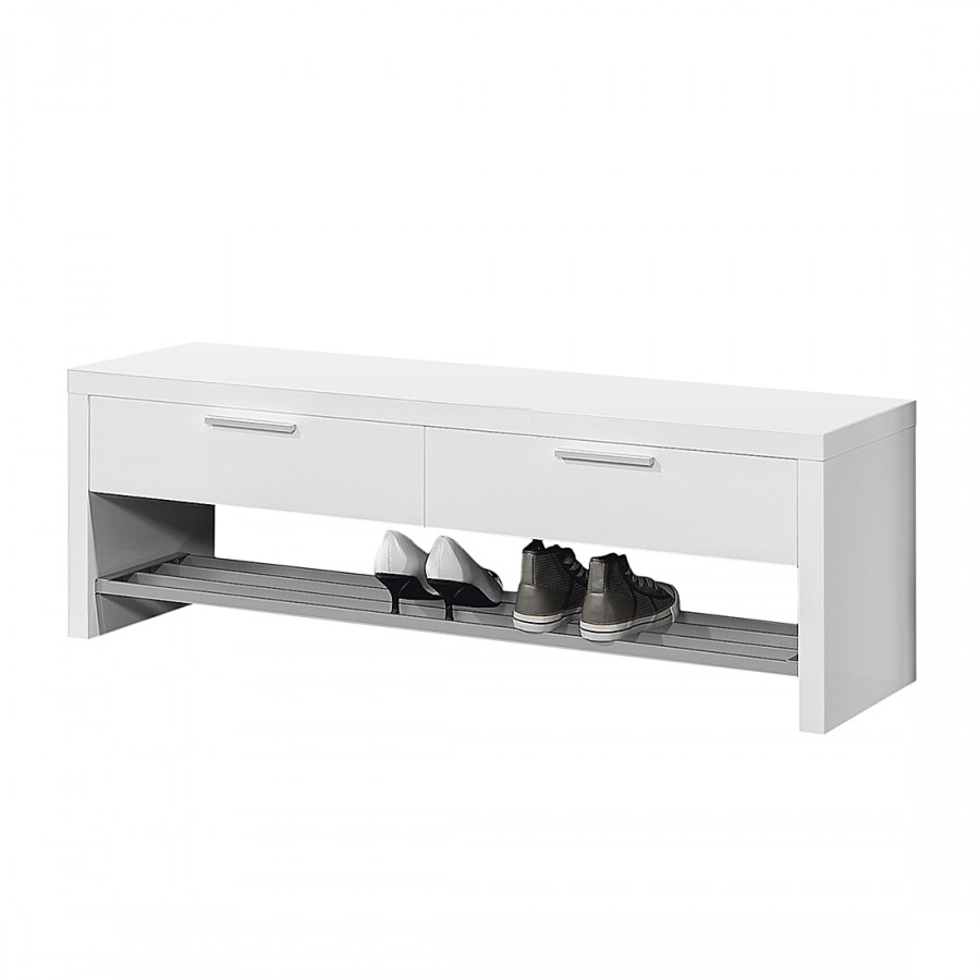 garderobenbank june ii hochglanz wei home24. Black Bedroom Furniture Sets. Home Design Ideas