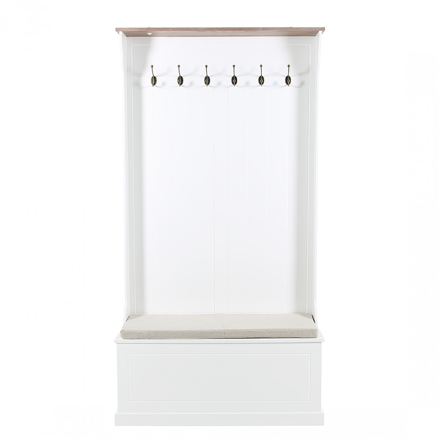 garderobenpaneel clivia mit sitzbank home24. Black Bedroom Furniture Sets. Home Design Ideas