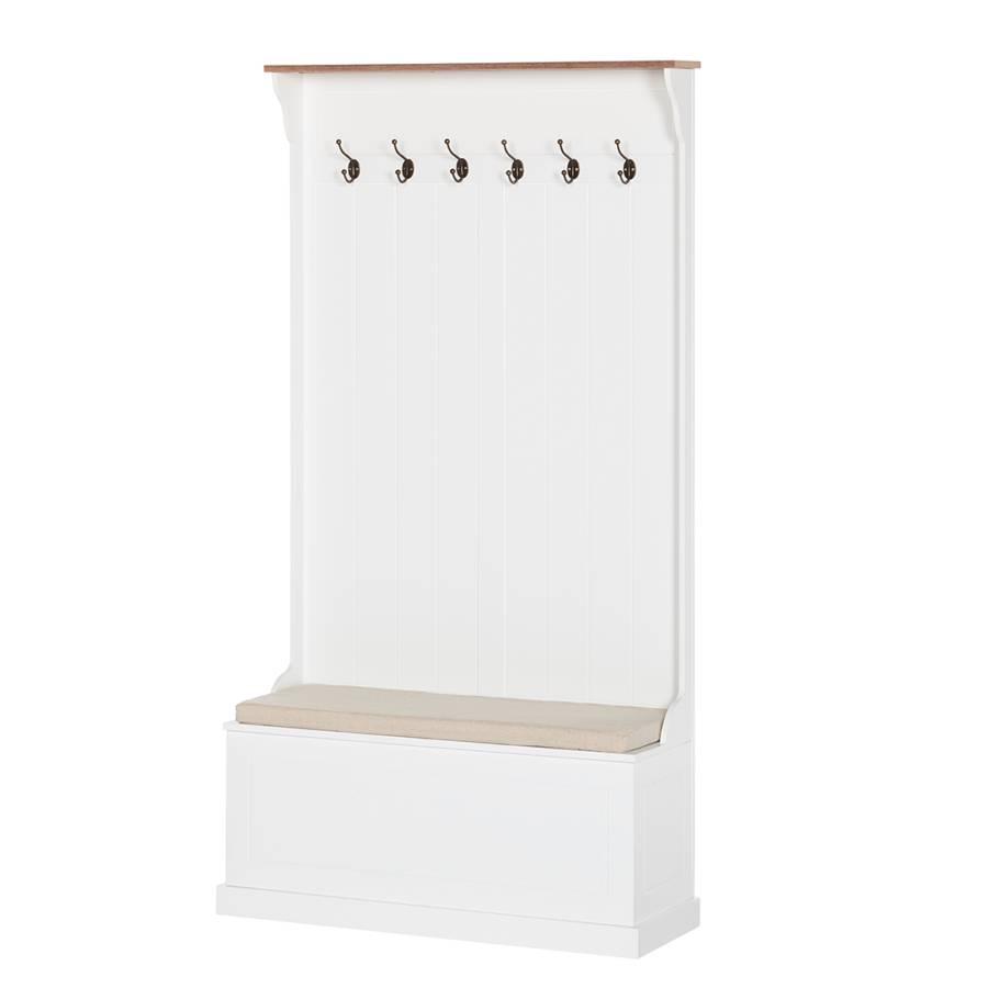 Garderobenpaneel clivia mit sitzbank home24 for Garderobenpaneel shop
