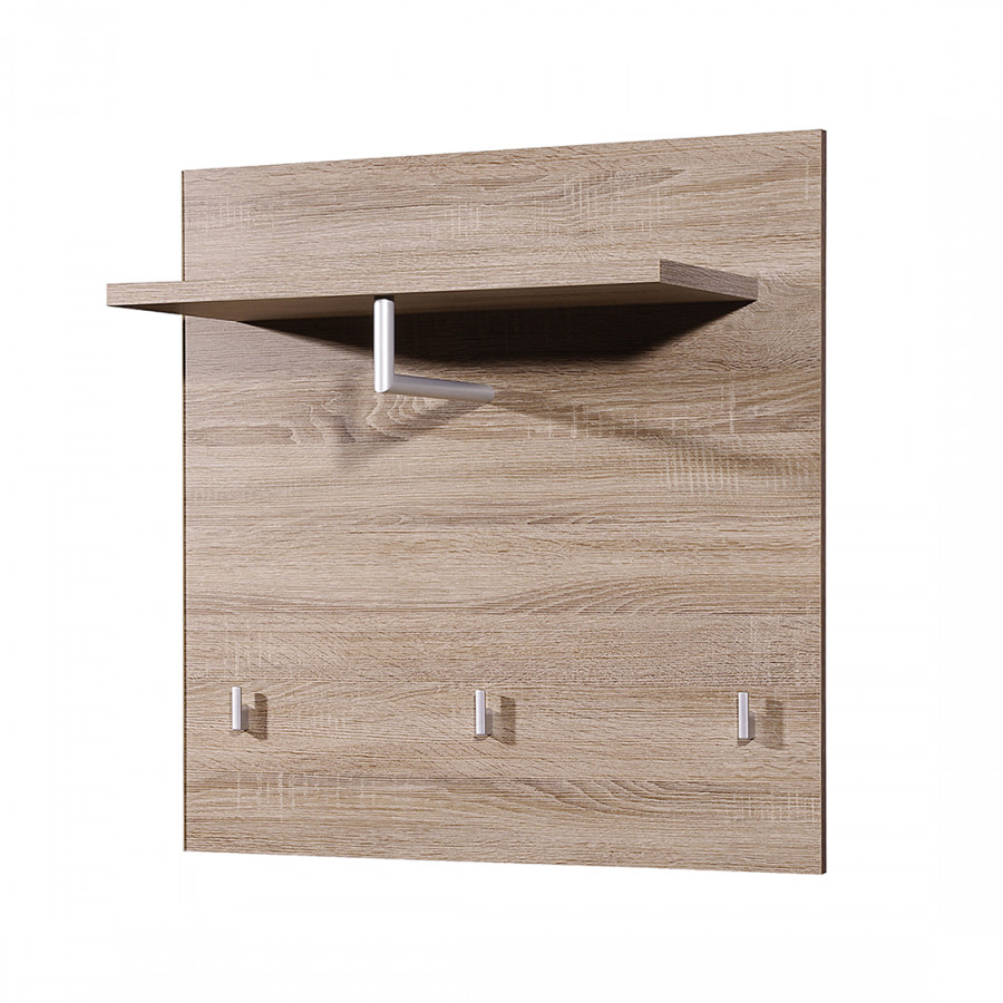 Home24 moderne top square wandgarderobe home24 for Garderobenpaneel eiche
