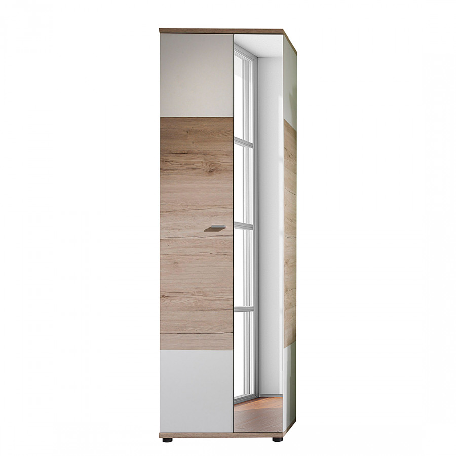 Garderobenschrank mit spiegel garderobenschrank vogotra for Garderobenschrank mit schuhschrank