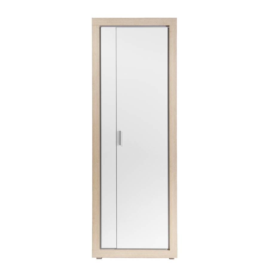 armoire de vestibule heidekamp ii blanc brillant imitation ch ne brut sciage. Black Bedroom Furniture Sets. Home Design Ideas