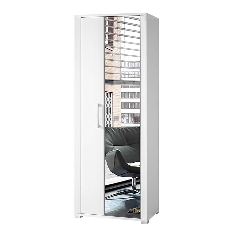 armoire de vestibule silkeborg blanc brillant. Black Bedroom Furniture Sets. Home Design Ideas