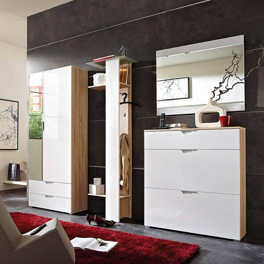 garderobenset neoo 4 teilig hochglanz wei kaufen home24. Black Bedroom Furniture Sets. Home Design Ideas