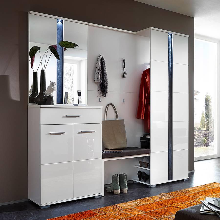 garderobenset campo 3 teilig hochglanz wei home24. Black Bedroom Furniture Sets. Home Design Ideas