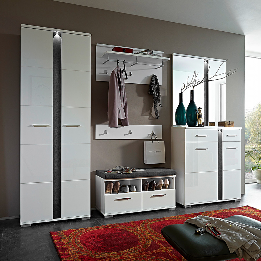 home24 modernes modoform garderobenset home24. Black Bedroom Furniture Sets. Home Design Ideas