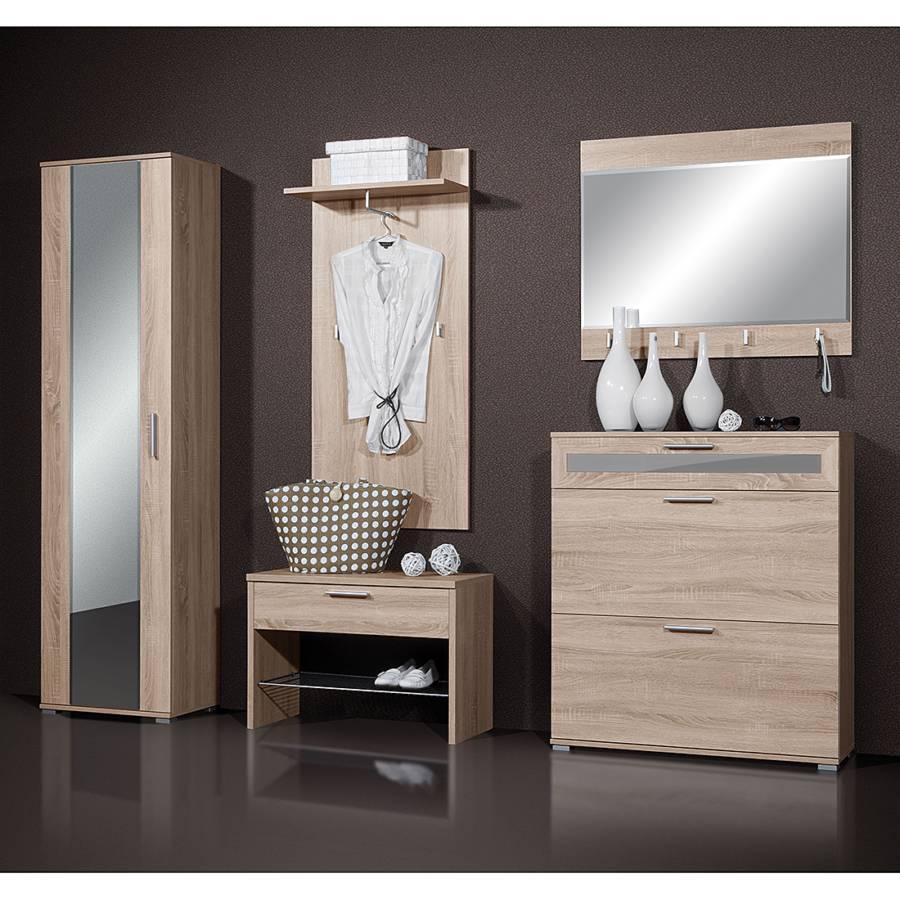 garderobenset maline 5 teilig eiche dekor online kaufen home24. Black Bedroom Furniture Sets. Home Design Ideas