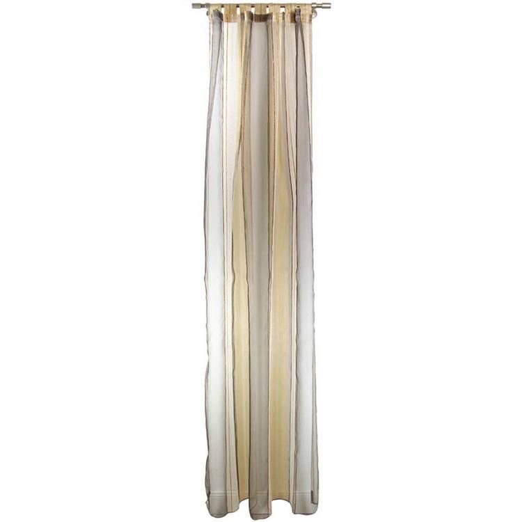 gardinen guiseppe schlaufenschal transparent wei beige orange. Black Bedroom Furniture Sets. Home Design Ideas