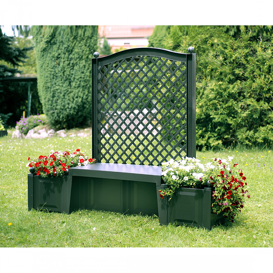 gartenbank florana ii mit spalier home24. Black Bedroom Furniture Sets. Home Design Ideas