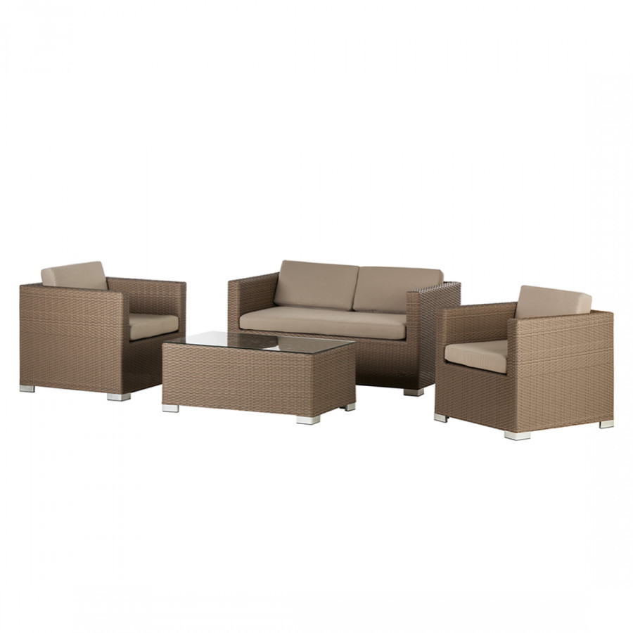 king 39 s garden rattanesco puca 4 teilig gartenm belset home24. Black Bedroom Furniture Sets. Home Design Ideas