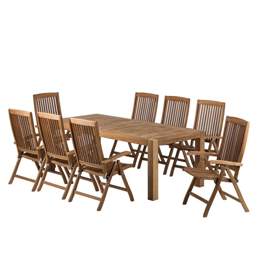 gartenm belset teak line agia 9 teilig braun kaufen. Black Bedroom Furniture Sets. Home Design Ideas