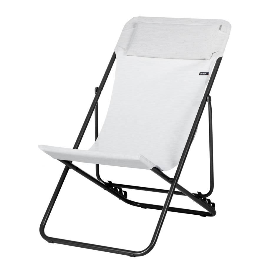 Fauteuil de jardin maxi transat blanc for Transat fauteuil jardin