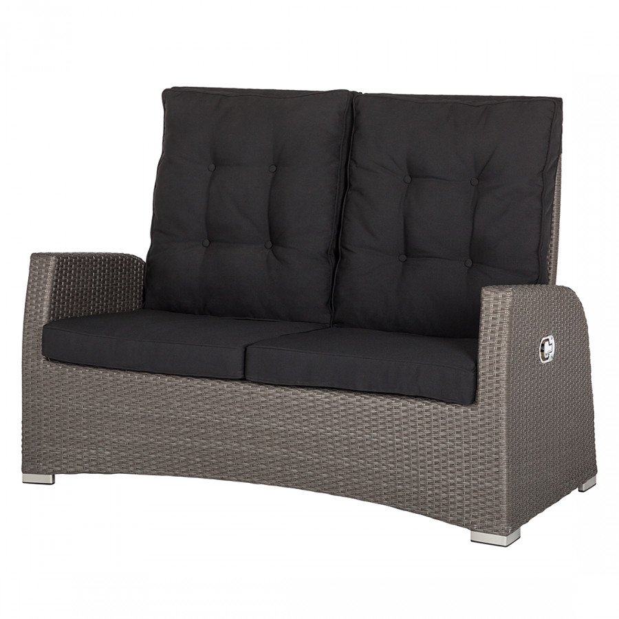 gartensofa pavona polyrattan grau home24. Black Bedroom Furniture Sets. Home Design Ideas