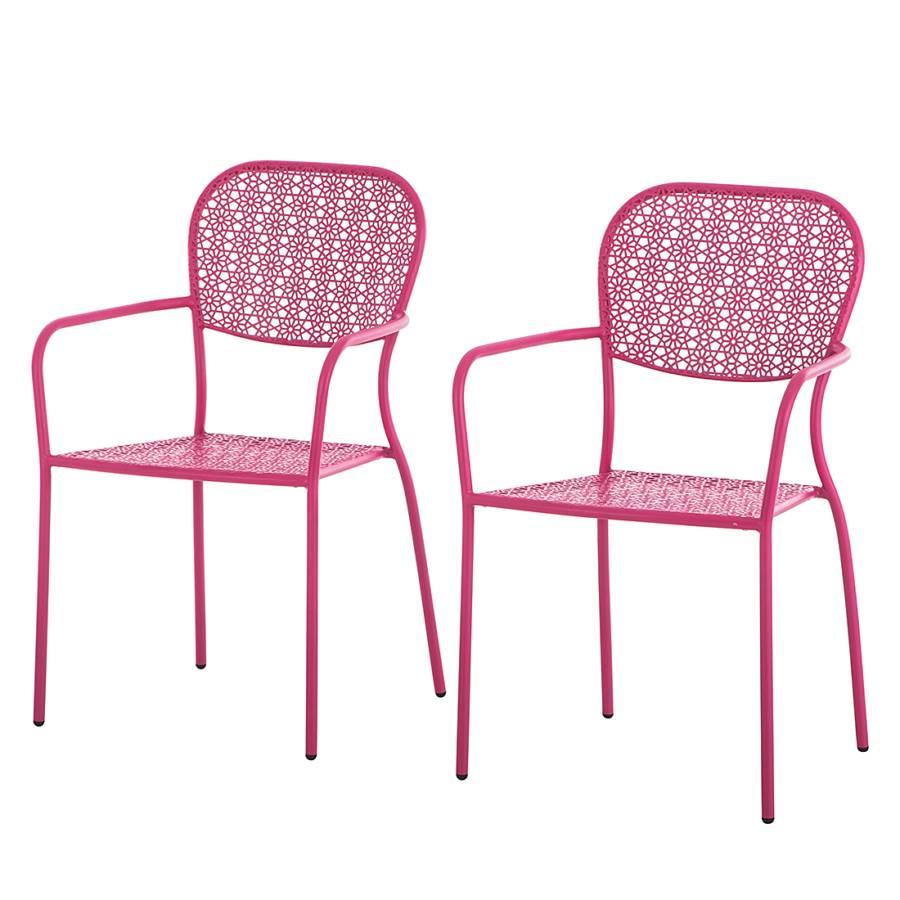 gartenstuhl fleury 2er set metall rosa home24. Black Bedroom Furniture Sets. Home Design Ideas