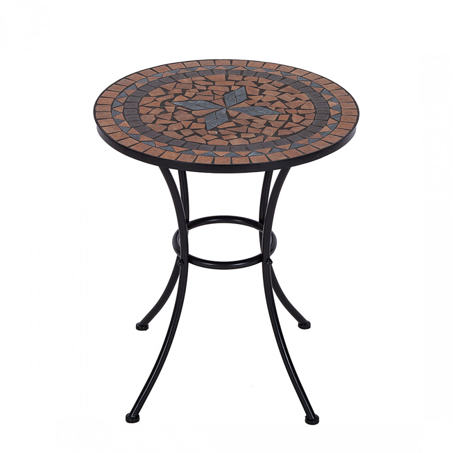 gartentisch aurelia i metall mosaik. Black Bedroom Furniture Sets. Home Design Ideas