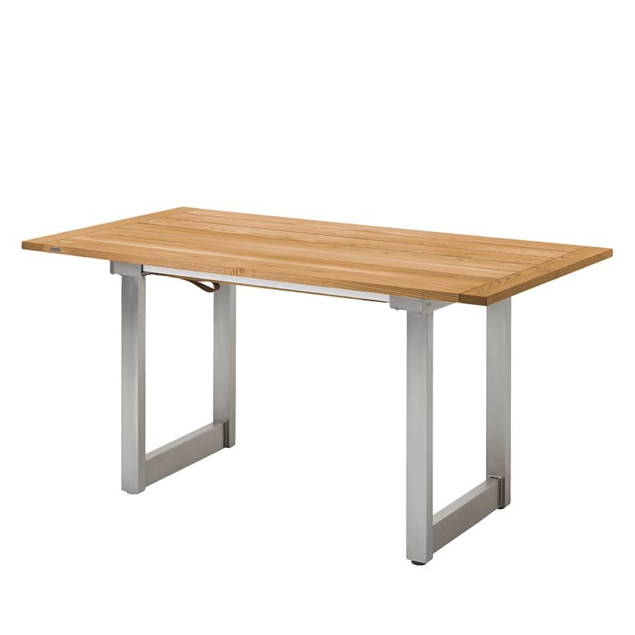 table de jardin nando extractible teck massif acier. Black Bedroom Furniture Sets. Home Design Ideas