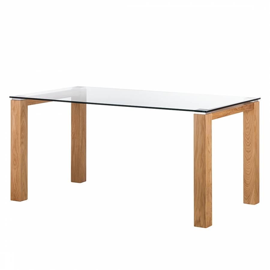 Glazen tafel palma i helder glas - Stoelen voor glazen tafel ...