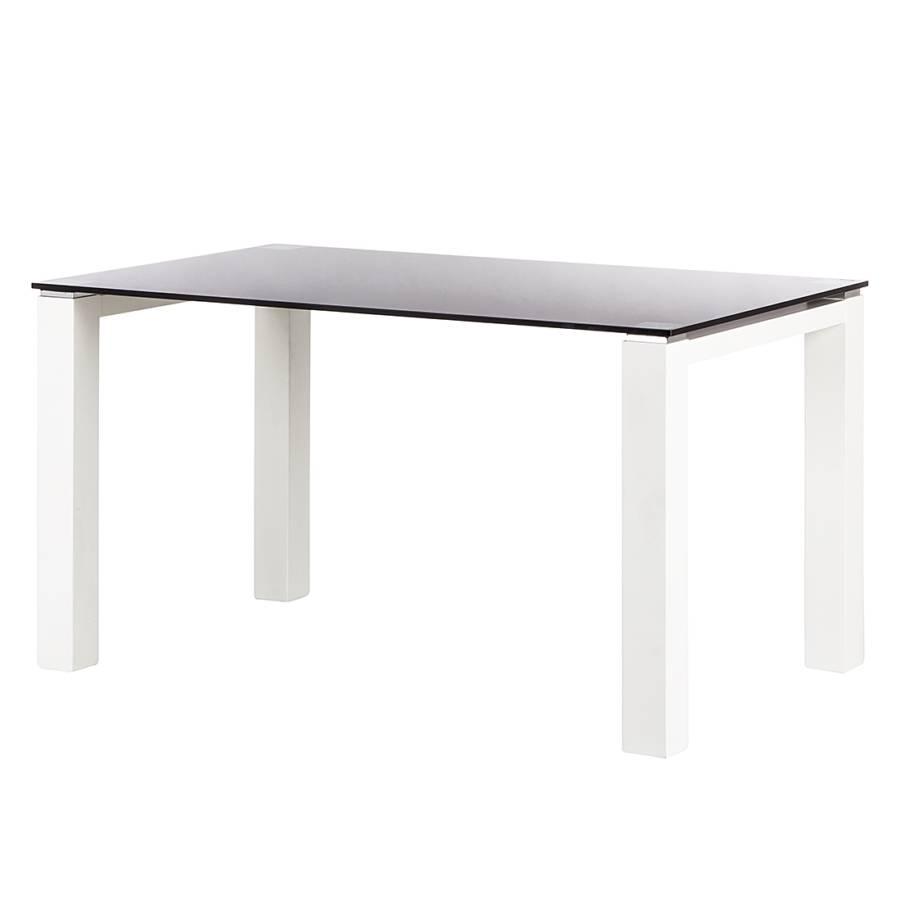 glastisch palma schwarz glas lack wei home24. Black Bedroom Furniture Sets. Home Design Ideas