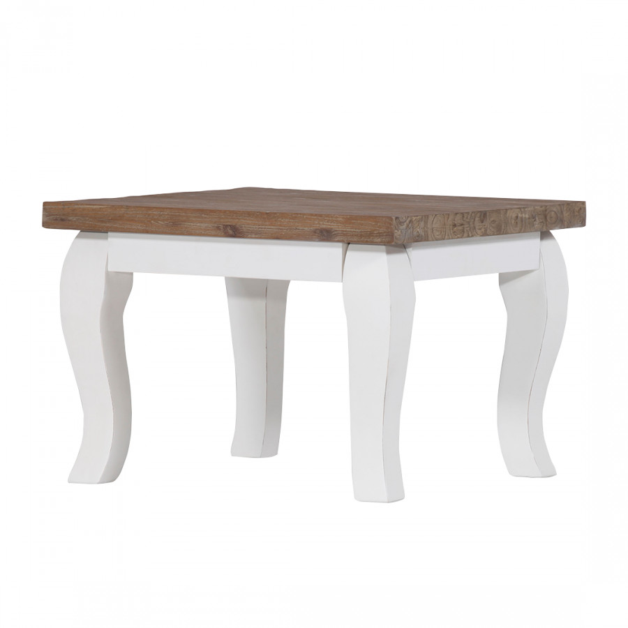 Table basse amelie acacia massif blanc for Table basse acacia massif