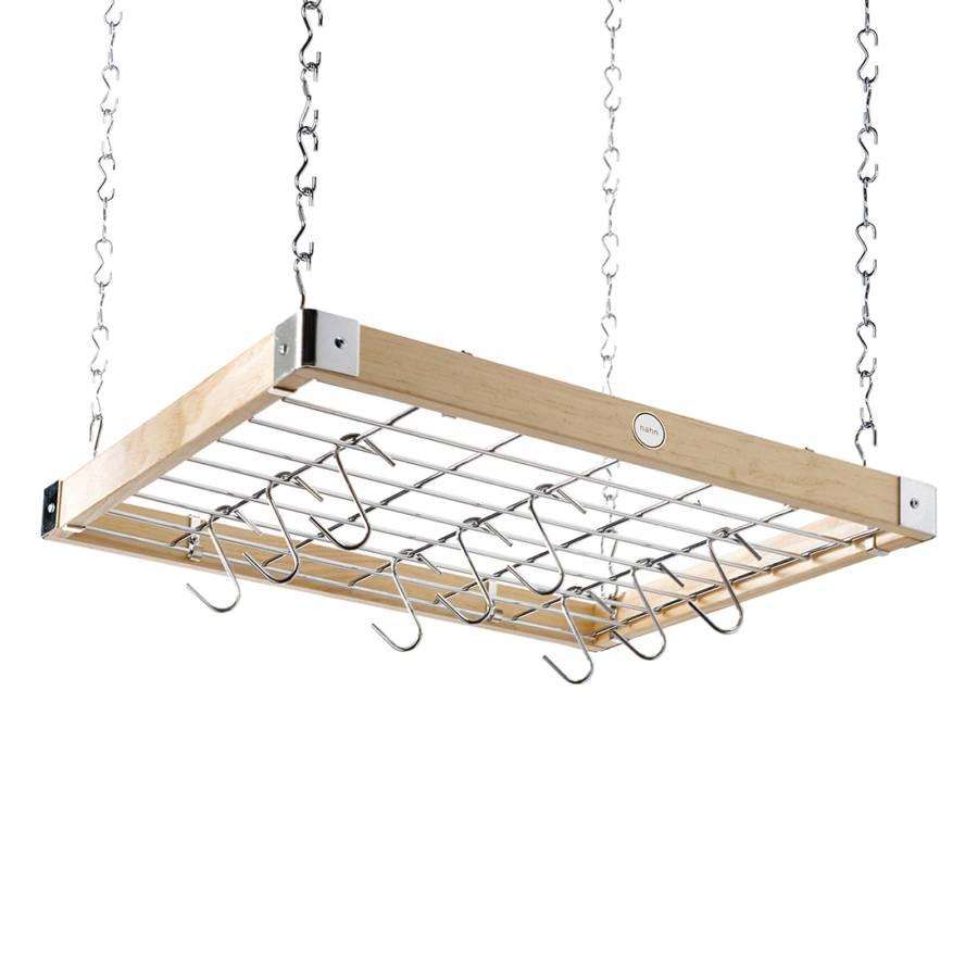 h ngeregal holz metall home24. Black Bedroom Furniture Sets. Home Design Ideas