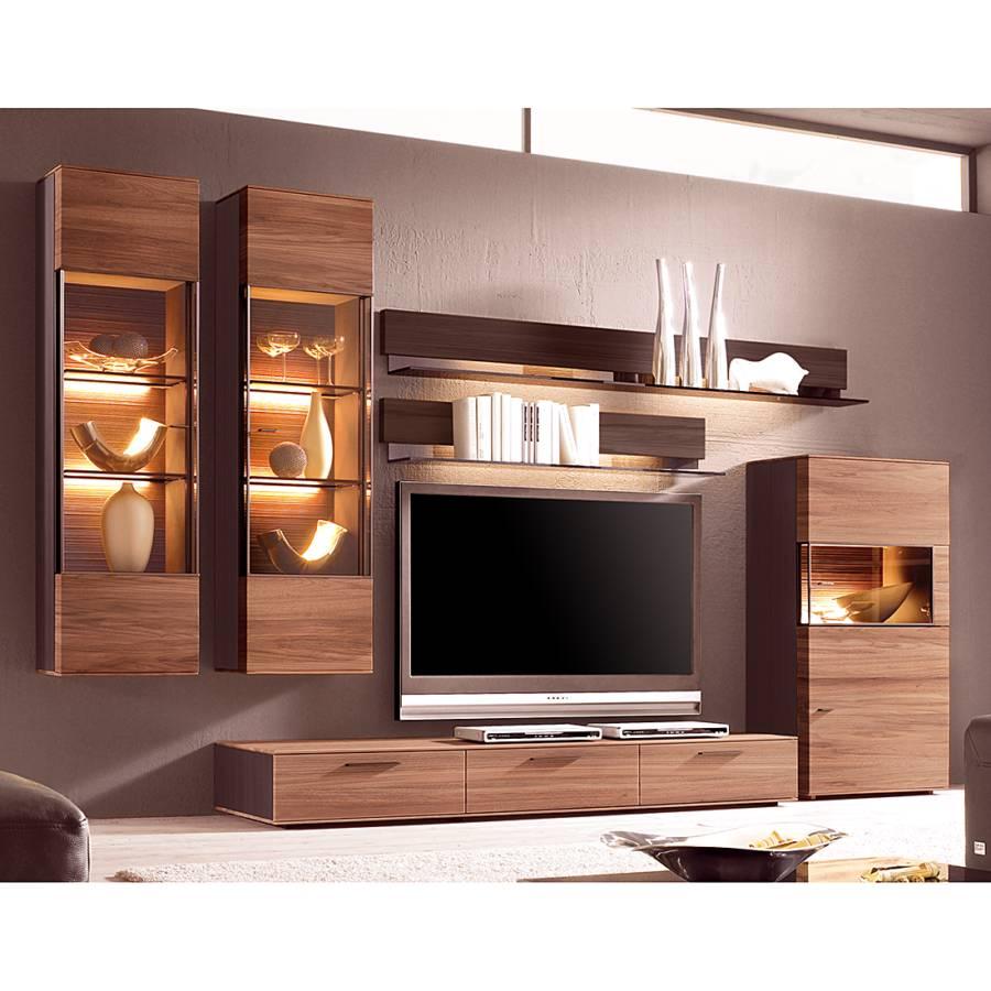 h ngevitrine cando iv walnuss massiv home24. Black Bedroom Furniture Sets. Home Design Ideas