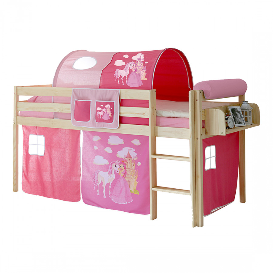 halbhochbett malte i kiefer massiv home24. Black Bedroom Furniture Sets. Home Design Ideas
