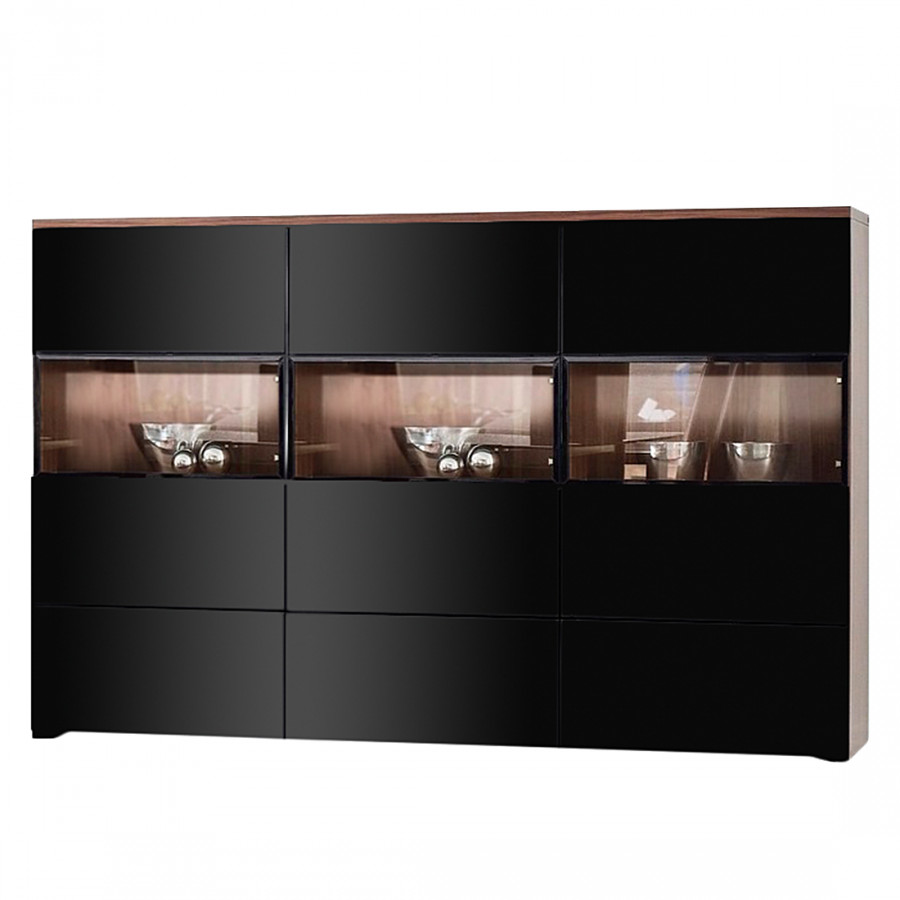 highboard nussbaum schwarz die neuesten. Black Bedroom Furniture Sets. Home Design Ideas