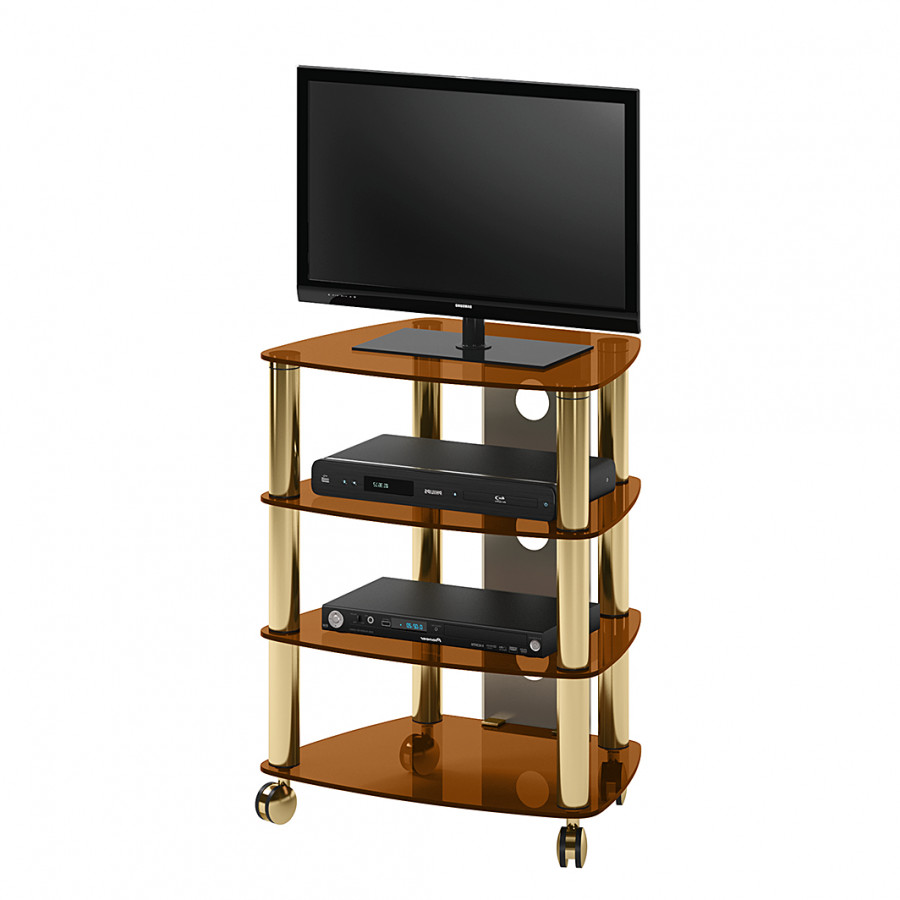 meuble tv et hifi lancaster verre bronze. Black Bedroom Furniture Sets. Home Design Ideas